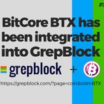 Image for the Tweet beginning: 📊📈BitCore has been added to