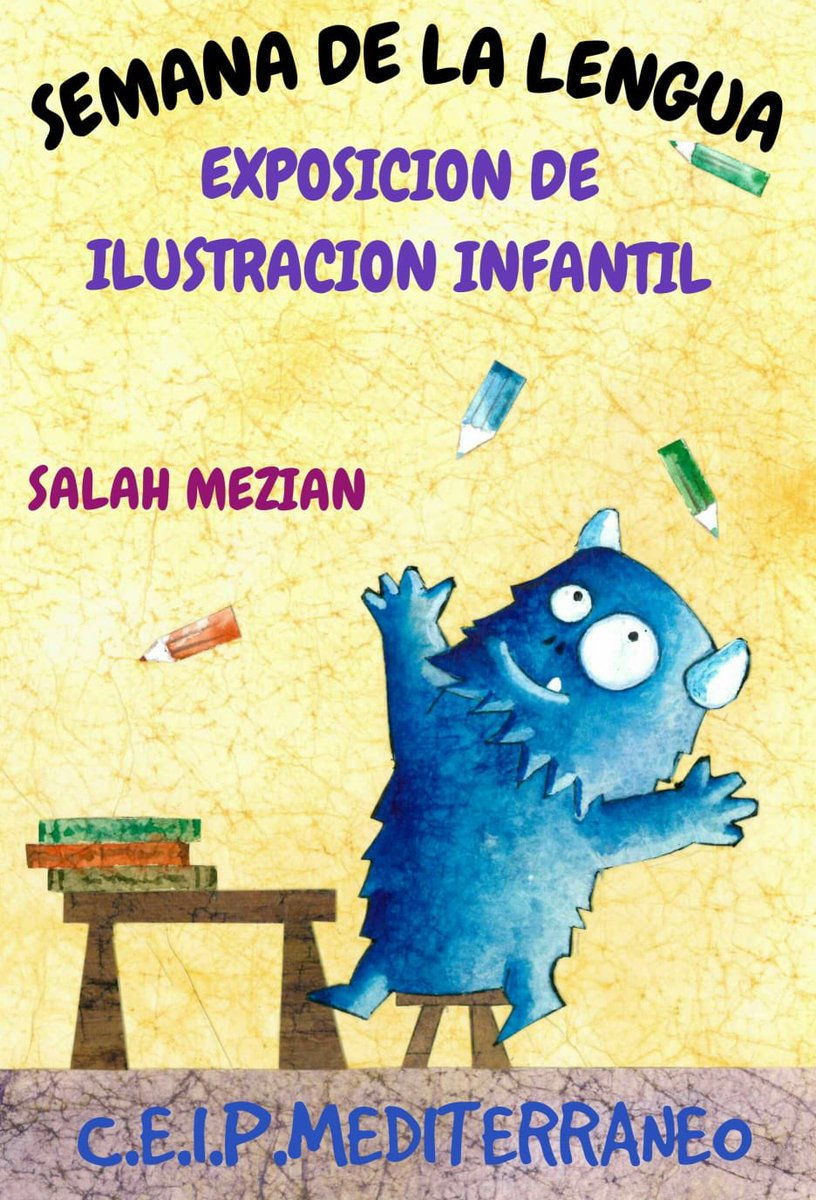 Magnifica exposición de láminas infantiles de Salah Mezian de MENSAJEROS DE LA PAZ ,durante nuestra IX Semana de la Lengua @Padre__Angel #Melilla https://t.co/7nDg1OGF4o