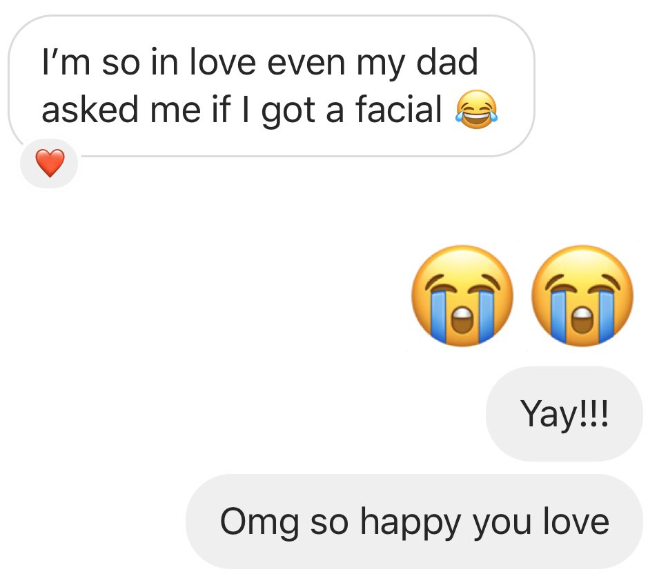 After her first use of our English Cleansing Butter, Chlorophyll Brightening Cleanser, Collugreen Serum x Moisturizer....out of all the things a dad would ask you when he sees you?!  FIRST TIME USE!!! #skincare #vegan #crueltyfree #perfectskin #collugreen #basedskinpic.twitter.com/eVGLyMsFXq