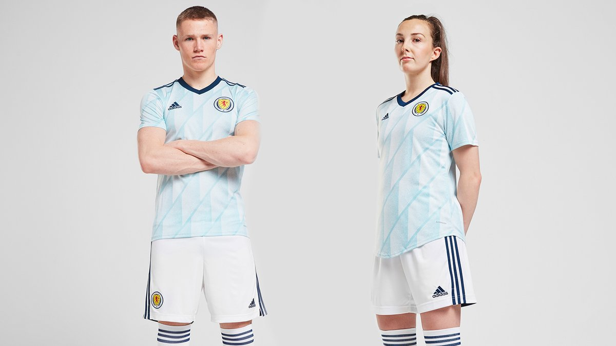 Home and 𝘼𝙬𝙖𝙮.  Your brand new 2020-22 @adidasfootball Scotland away kit.  #NothingMattersMore