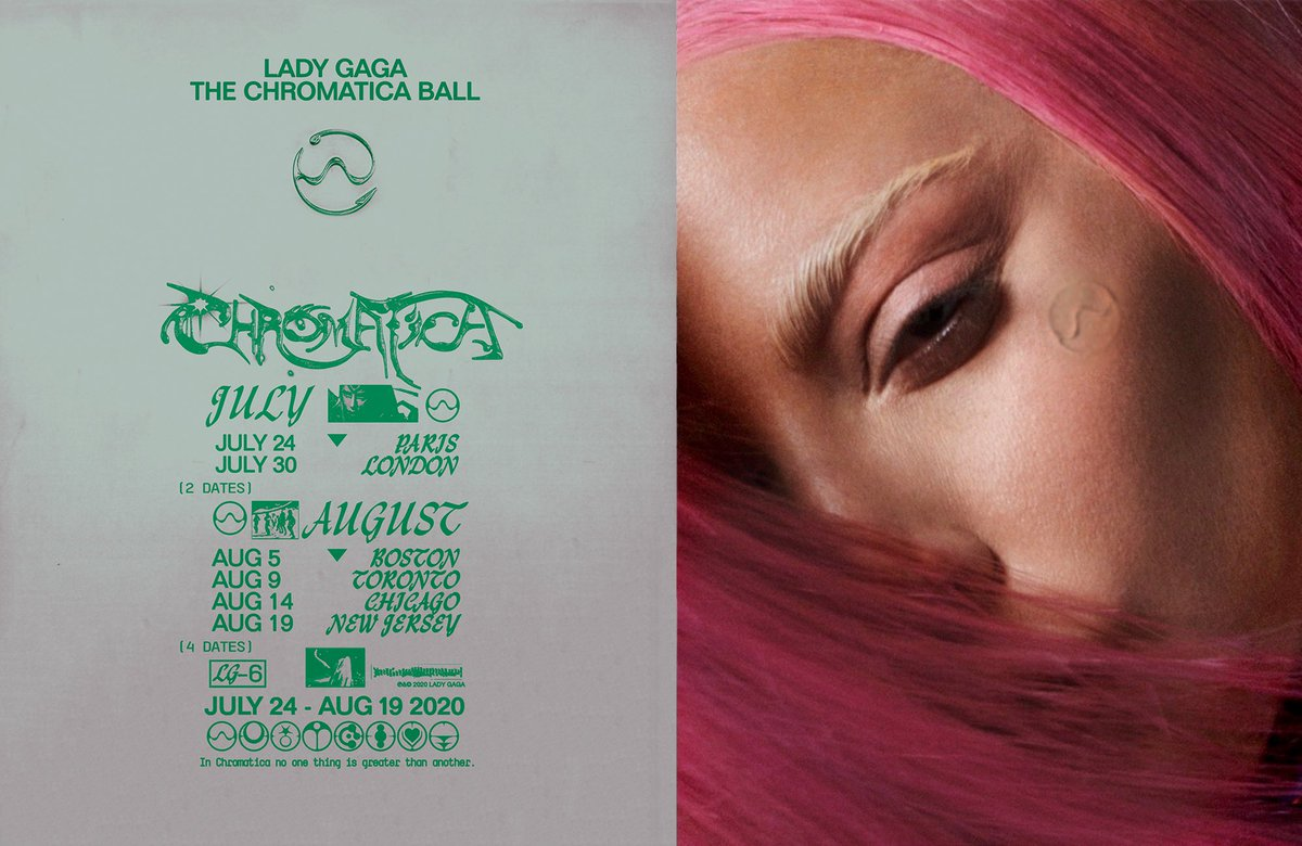 LADY GAGA THE CHROMATICA BALL LONDON AND PARIS PRE-SALE NOW  http://ladygaga.com/thechromaticaball  …   If you pre-ordered a copy of #Chromatica  through Lady Gaga's official UK or France shop, use the individual code emailed to you to purchase your tickets.