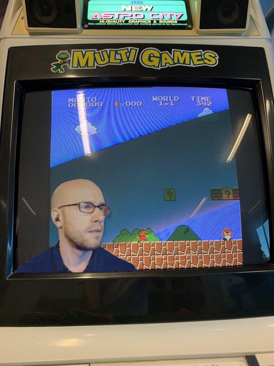 Work got an arcade machine so I thought it might look better with an Aura cutout. @Aurateur