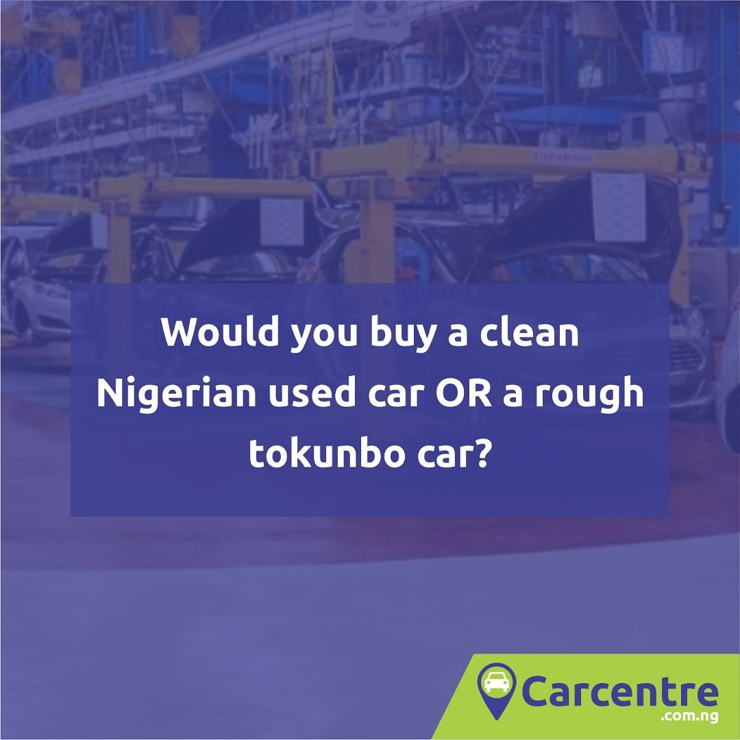 Would you buy a clean Nigerian used car or a rough tokunbo car? #carcentre #buycars #sellcars #usedcars #newcars #foreignusedcars #tokunbocarspic.twitter.com/G1hPHhpBoe