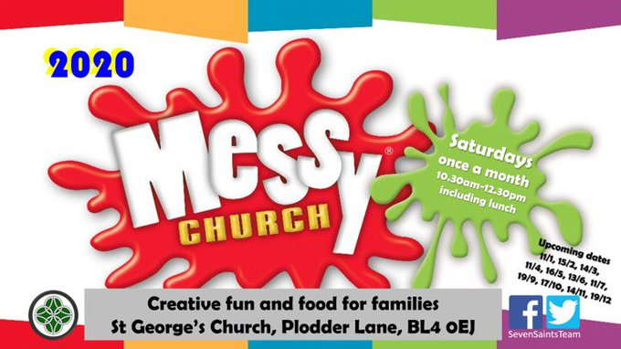 RT @SevenSaintsTeam: Join us for messy church on Saturday @SevenSaintsTeam St George's https://t.co/GmXuiNiTBt https://t.co/cDqpdPXoEL