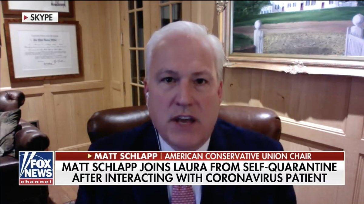 CPAC organizer tells everyone to 'calm down' via Skype from coronavirus quarantine