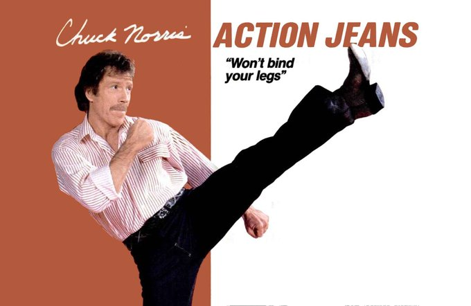 Happy 80th birthday to the inventor of Action Jeans, CHUCK NORRIS.