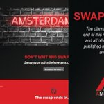 Image for the Tweet beginning: The AmsterdamCoin (AMS) swap is