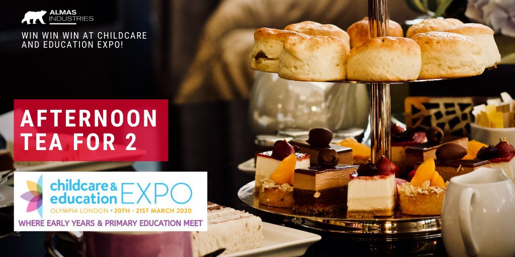 How do you fancy winning a fantastic Afternoon Tea for 2 people at the Shard? Come along to the Almas Industries stand at @childcareedexpo @olympia_london 20th or 21st March, have your badge scanned and you could be a winner! #raffle #afternoontea #winner https://t.co/DQNJwSoAaR
