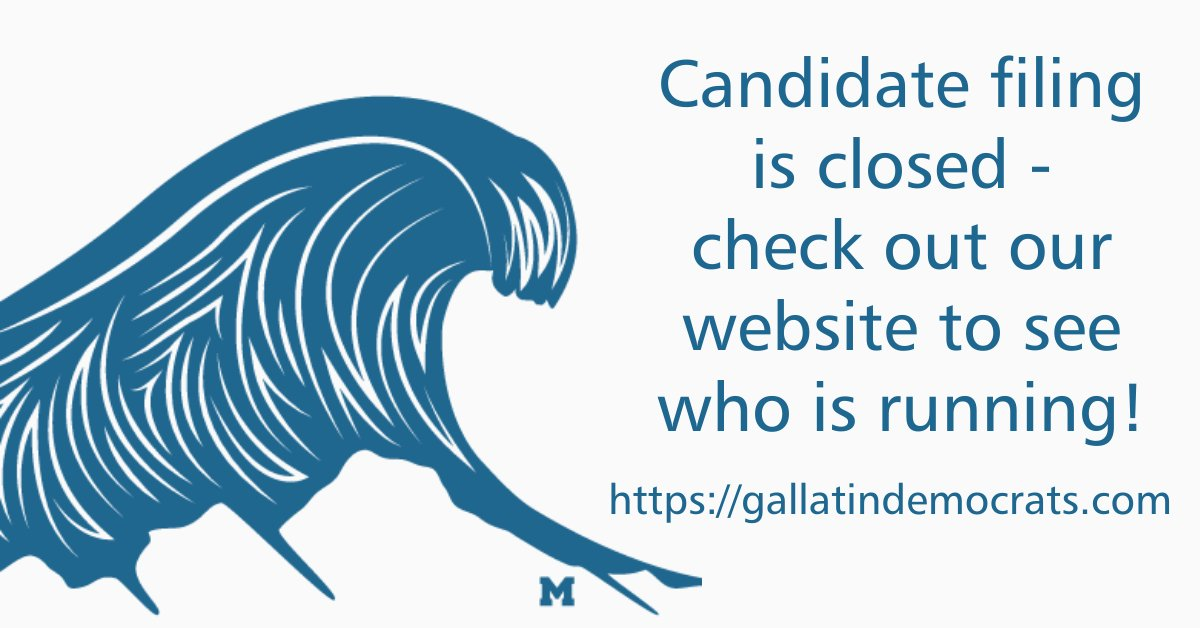 Wow - lots of movement yesterday with the candidate filing deadline! Check out our website to see who is running. Were thrilled to see a Democratic candidate running for almost every seat in #GallatinCounty! #MTpol #GallatinBlueWave #BeInformed gallatindemocrats.com