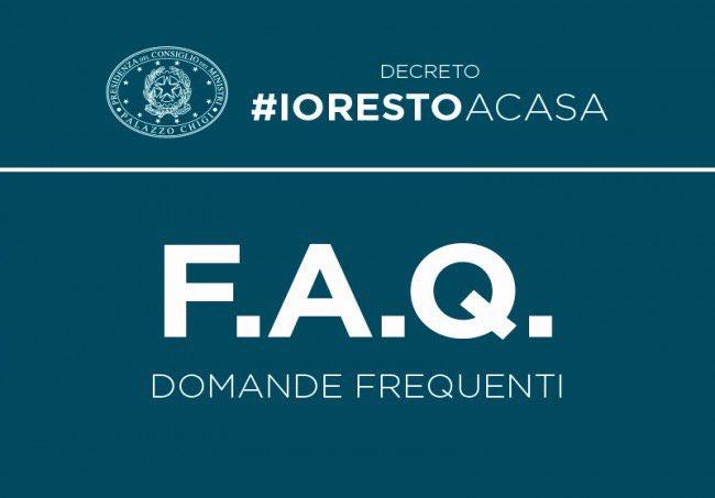 Decreto #IoRestoaCasa, domande frequenti sulle mis...