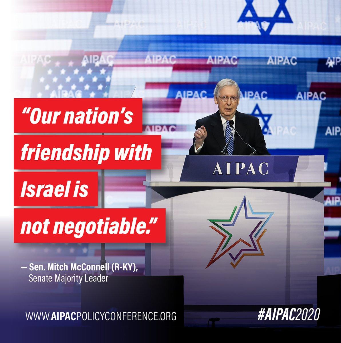Thank you, @senatemajldr! #AIPACProud