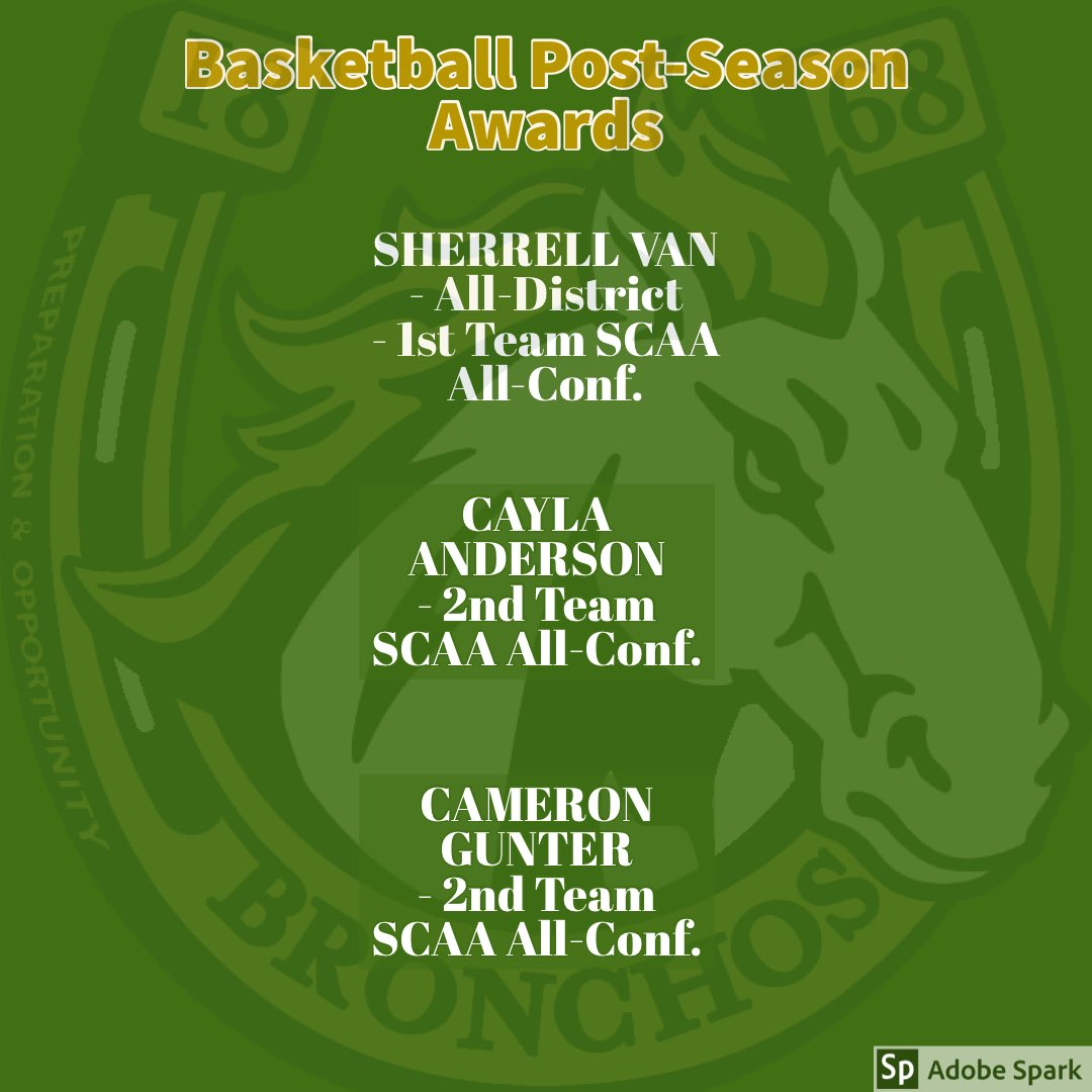 Congrats to our student-athletes on earning basketball post-season awards! #bronchopride @bhs_stl