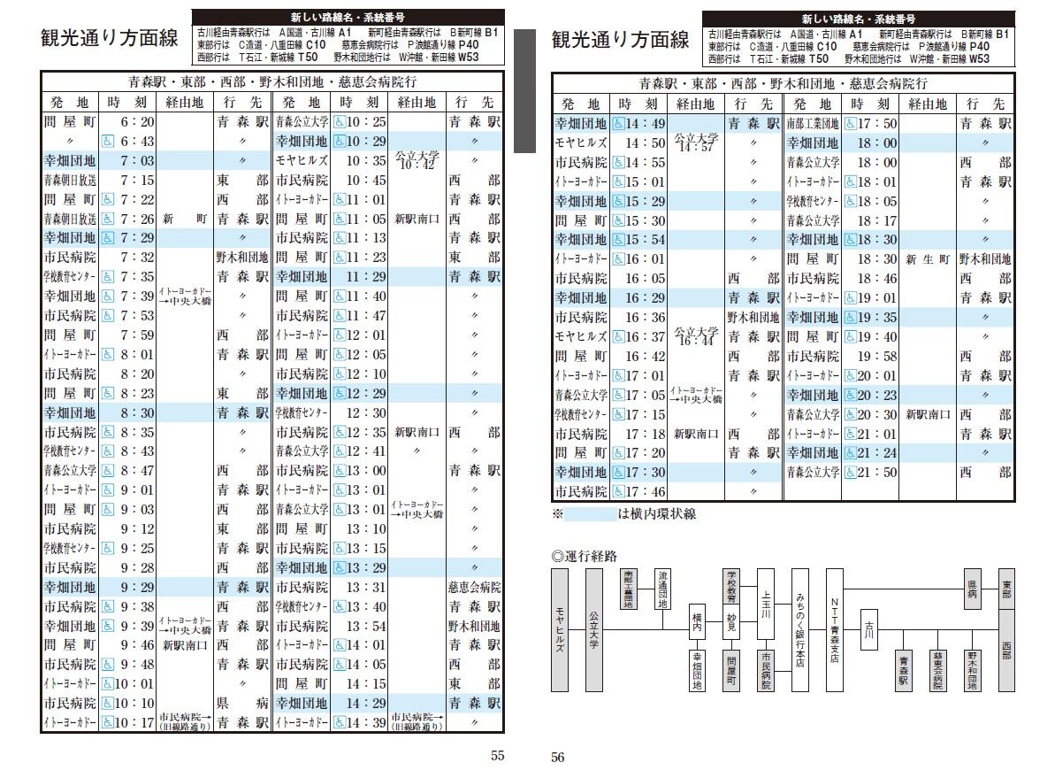 青森 時刻 新 表 駅