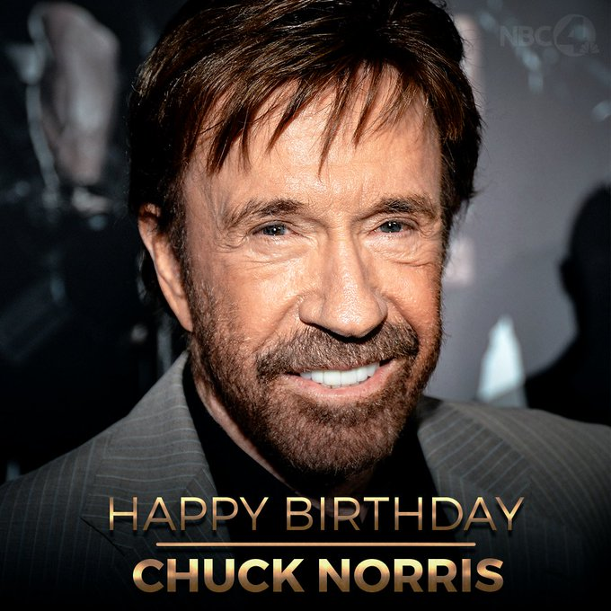 Happy 80th birthday to Chuck Norris!