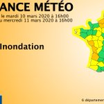 Image for the Tweet beginning: 🔶 6 dpts en #vigilanceOrange  Restez