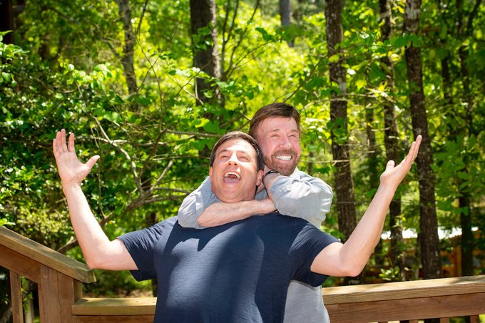 Happy 80th birthday to the legend who defies age! Proud to be your friend, Chuck Norris!