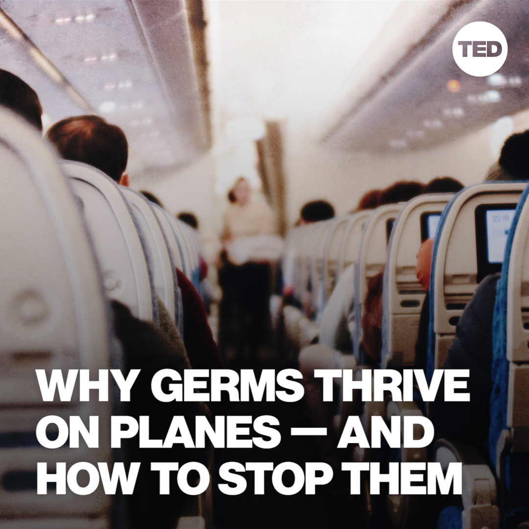 If you're traveling this holiday season, WEAR 👏 YOUR 👏 MASK 👏  Watch Raymond Wang's full talk on how germs spread on planes here: