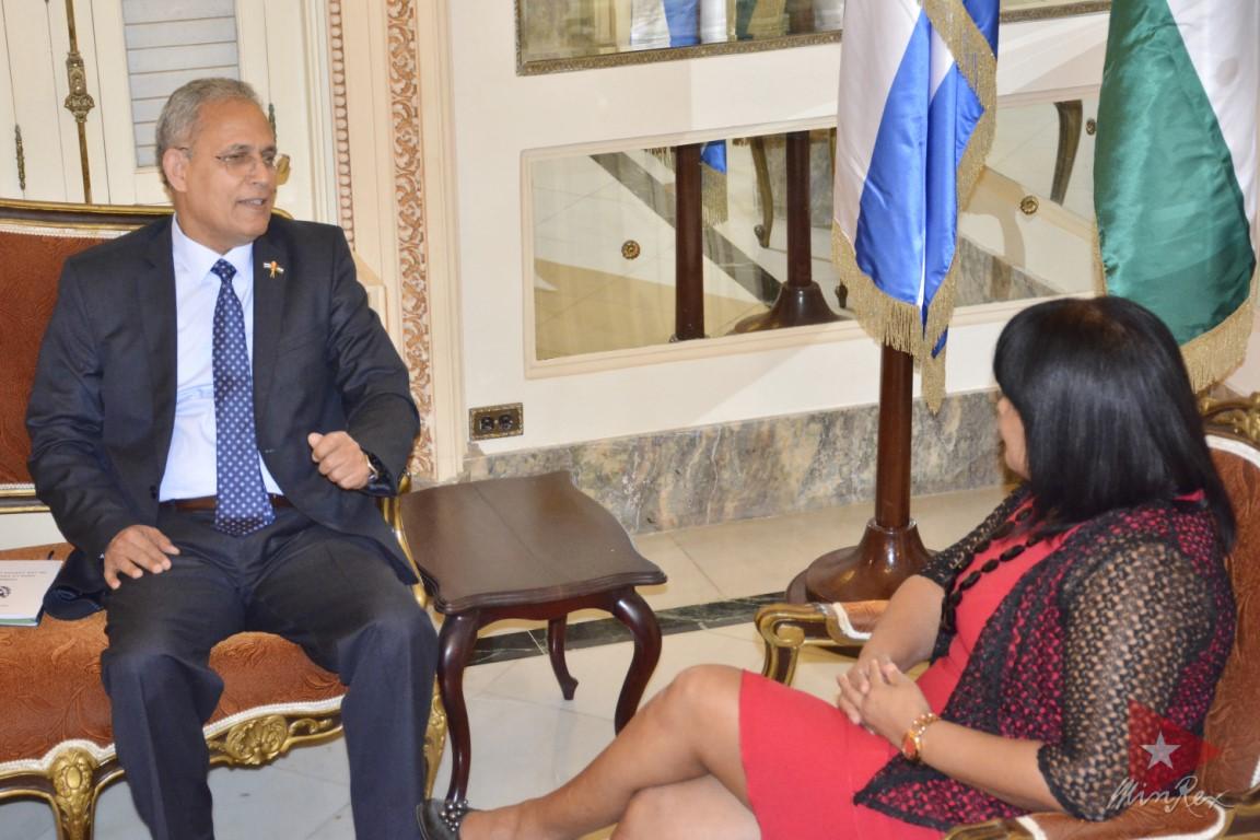 Recibió Vicecanciller cubana Copias de Estilo de nuevos embajadores