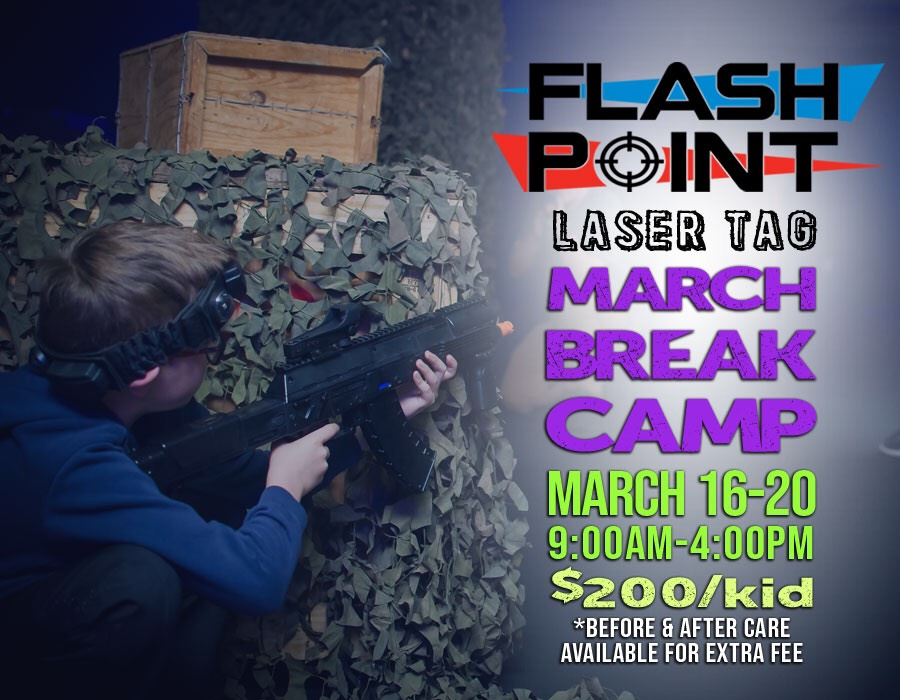 @FlashpointCk Laser Tag March Break Camp!  Campers put on your headbands, grab your laser guns and battle in our laser tag arena with professional quality laser tag equipment.   http://bit.ly/FlashpointMarchBreakCamp …  #YourTVCK #TrulyLocal #MarchBreak #MarchBreakCamp #CKONTpic.twitter.com/e0ybvkpTD7