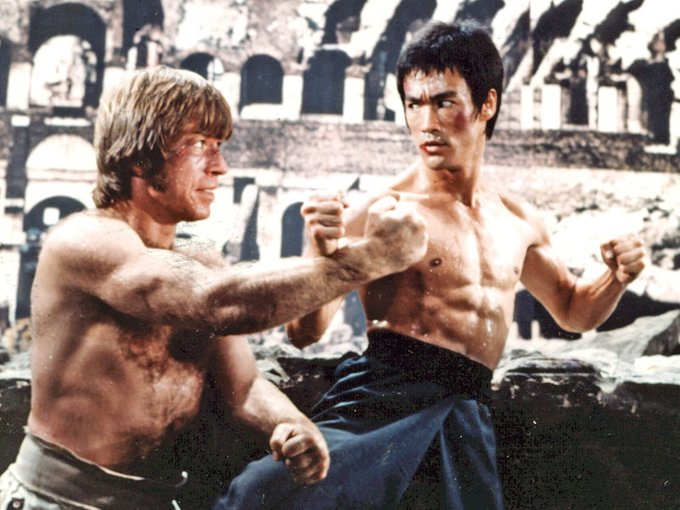 Happy 80th birthday, Chuck Norris!  Colt, The Way of the Dragon, 1972