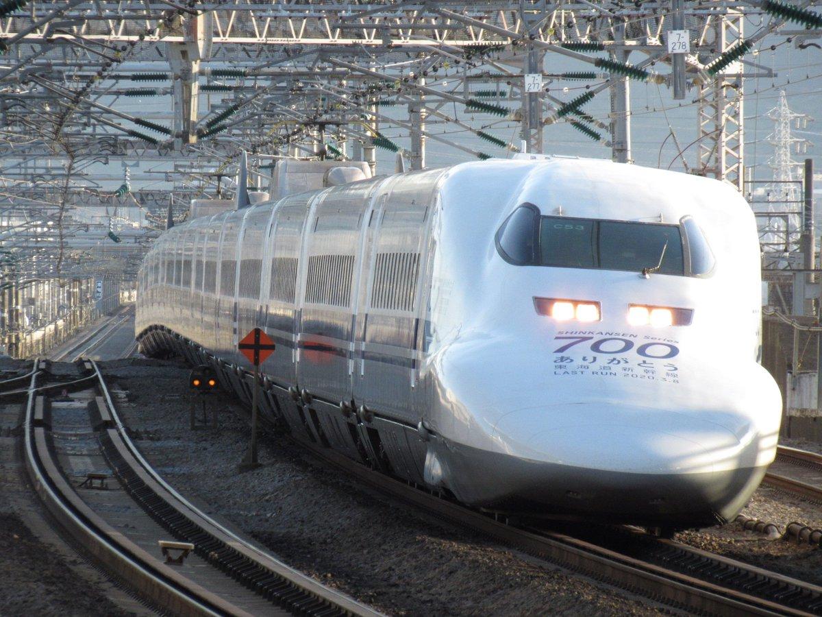 【スジ掲載】700系C53編成が廃車回送される 明日はC54編成が廃車に...