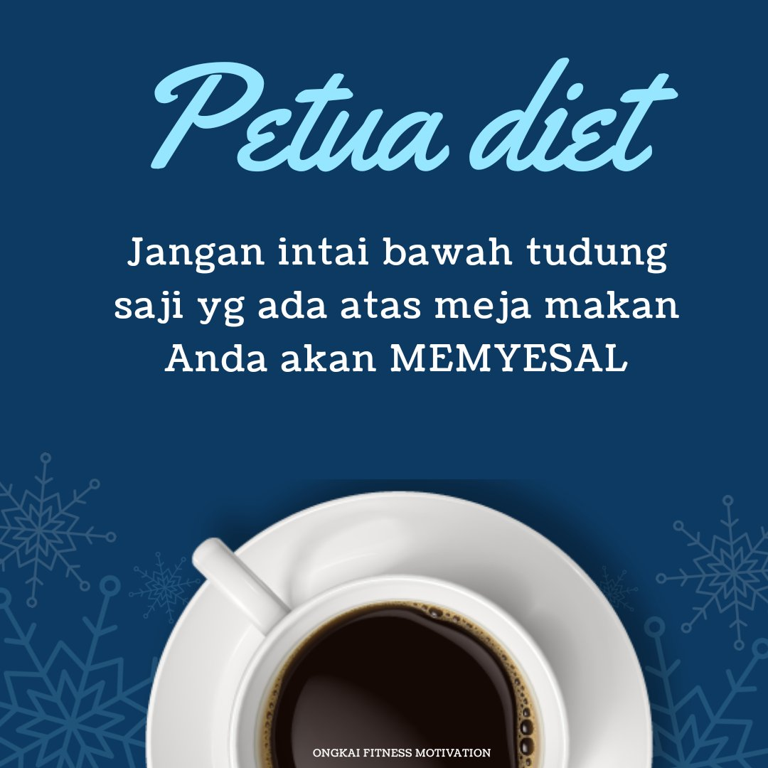 Petua diet!  Jangan intai bawah tudung saji yang ada atas meja makan. KAU AKAN MENYESAL  #tipsmaingym #coronavirusmalaysia #tipskurus #tipskesehatan #malamjumatpic.twitter.com/SQvmu2ugw5
