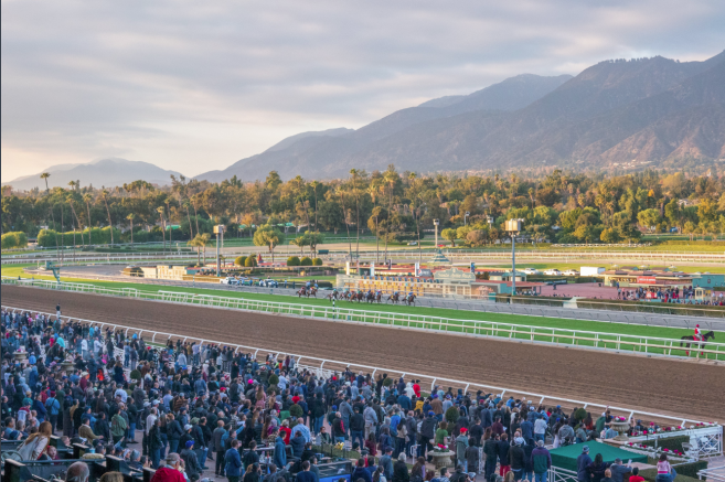 Santa Anita has cancelled racing scheduled for this Friday March 13 Because Of Rain. #HorseRacing #horses #SantaAnitaracetrack pic.twitter.com/usGD4ungWn