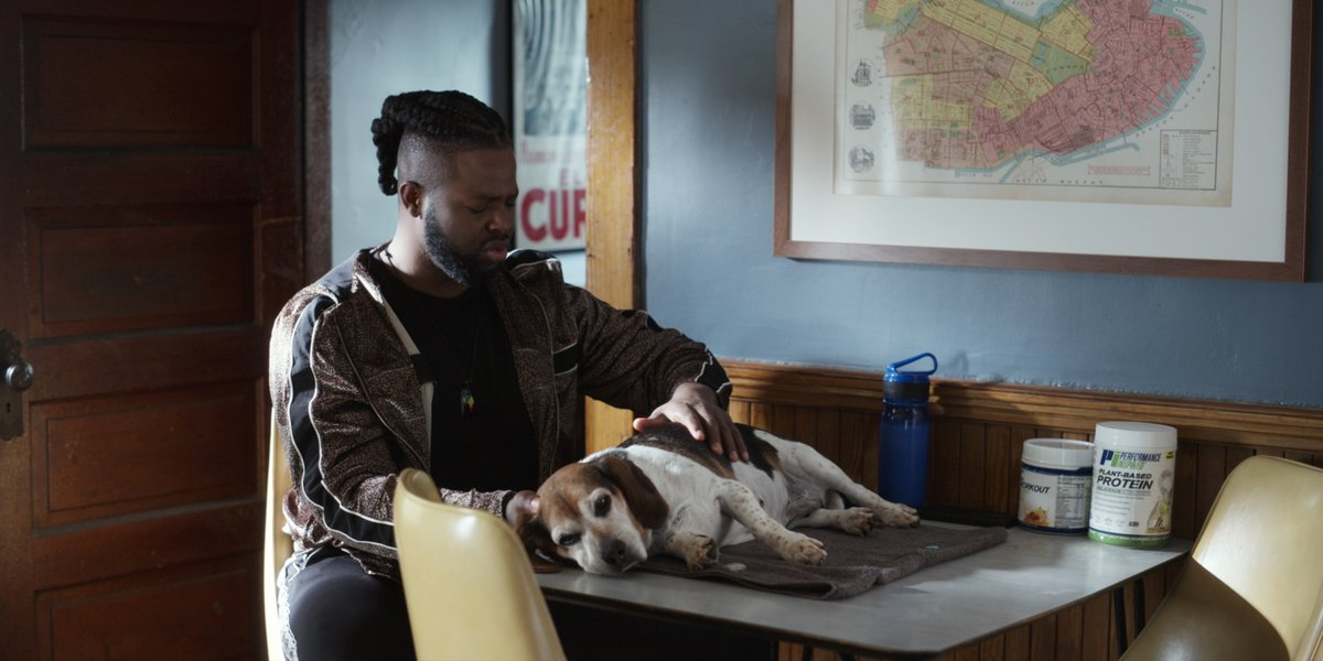 Netflixfilm On Twitter The Goal Is To Be Loved As Much As Winston Duke Loves This Beagle In Spenser Confidential
