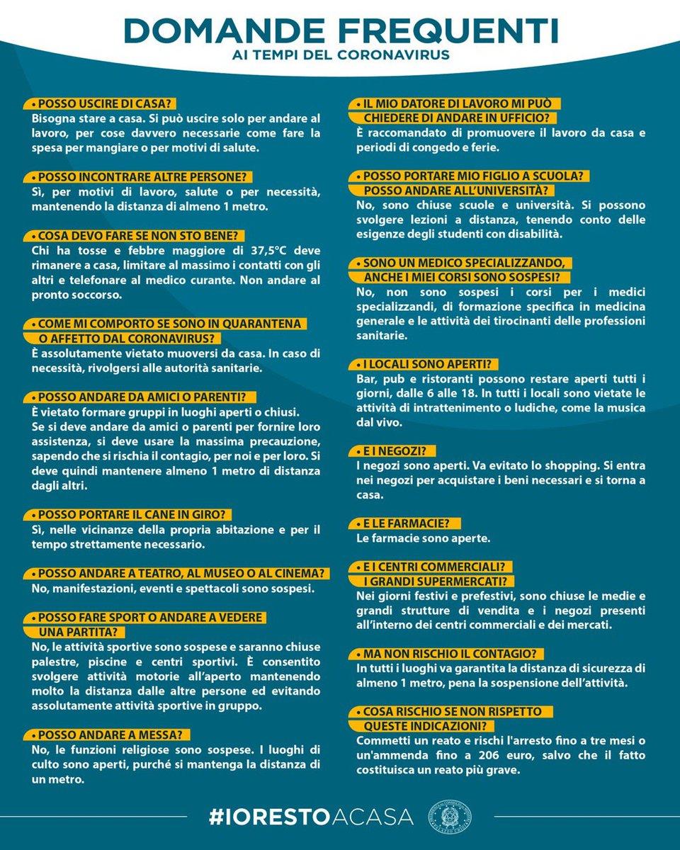#iorestocasa  Domande frequenti sulle misure adott...