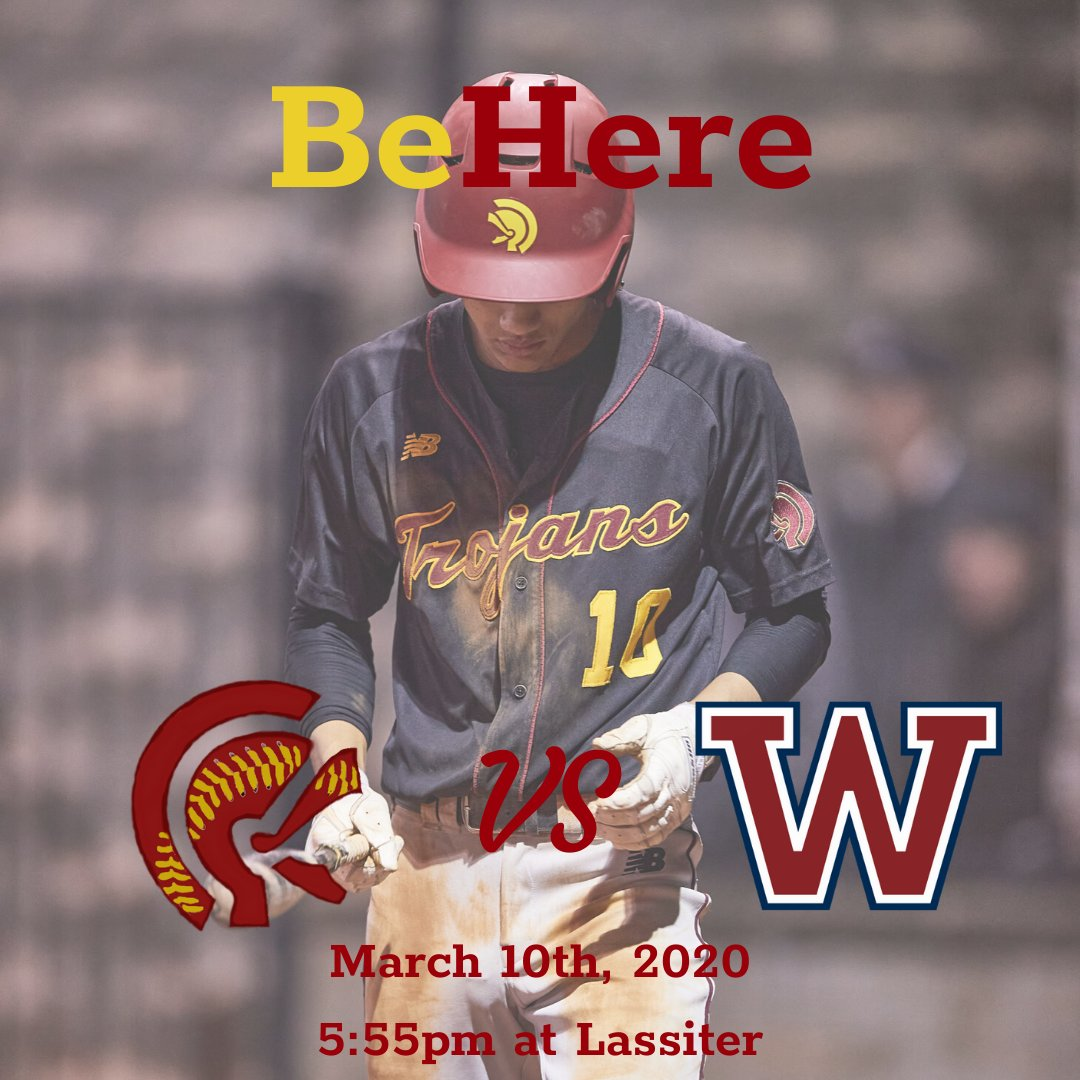 Come Support the Guys on the Road to Face Woodstock. #trojanbaseball