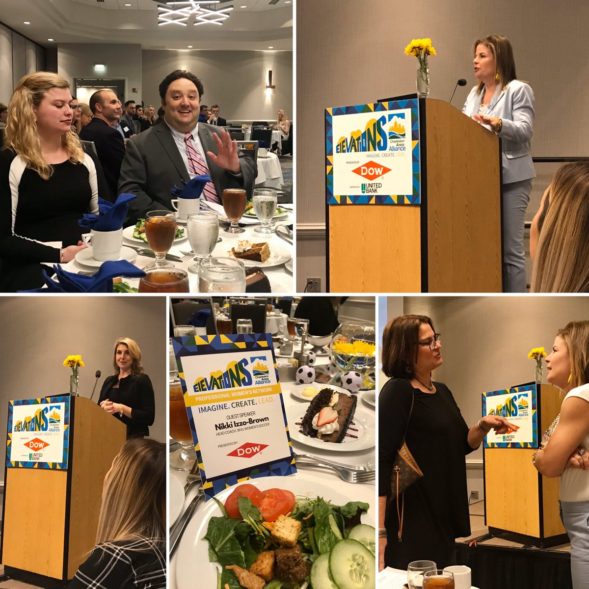 #ElevationsLuncheon #CharlestonAreaAlliance #WVUSports #CoachIzzoBrown #WVUWomensSoccer #LoveTough #Respect #Kindness #Endurance #theGET #304 Thanks for an inspiring message! #professionalwomensnetwork
