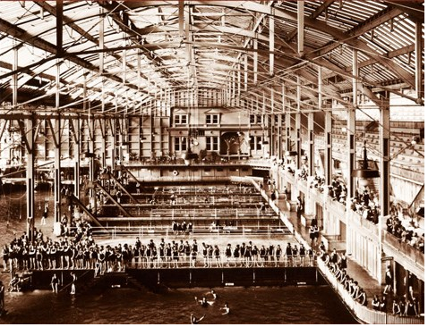 "Great archives piece in this morning's California Sun @mmcphate about the old Sutro Baths in SF and a Black man, John Harris, who sued them under the 1897 Dibble Act which guaranteed Californians ""of every color or race whatsoever"" entry to public places."