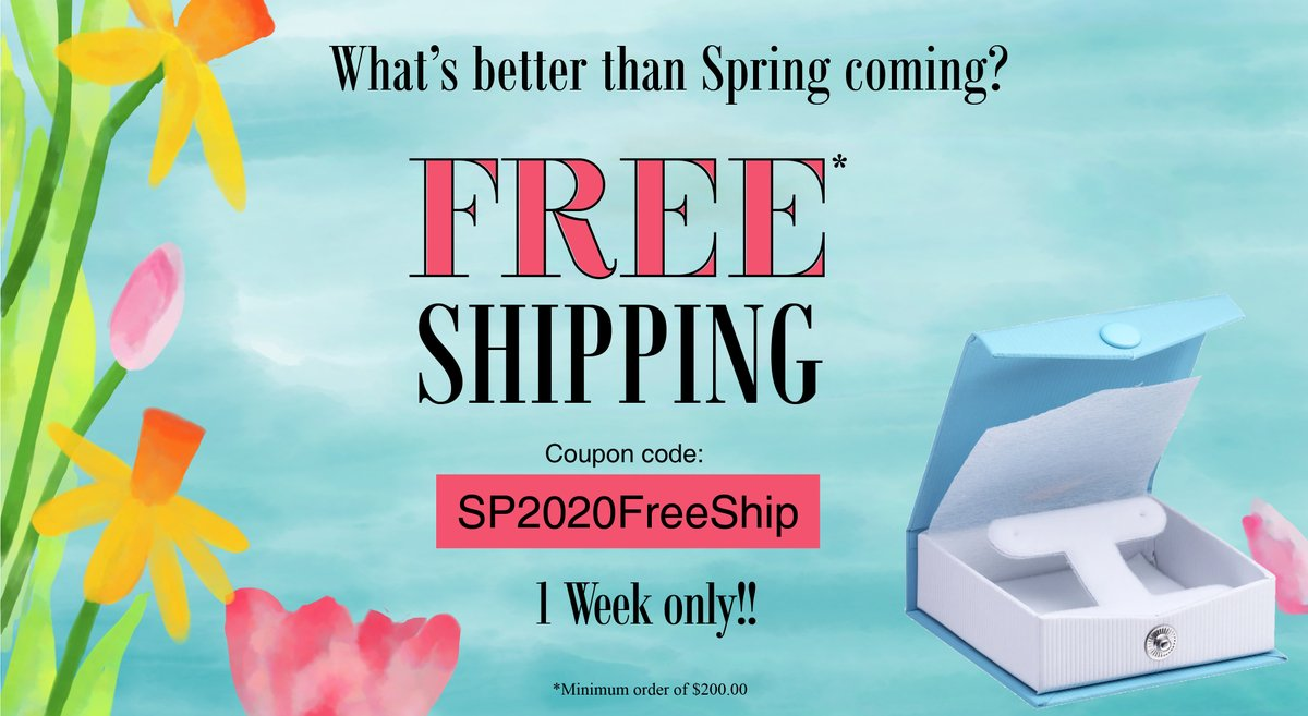 #FREE!Spring into action....with this deal Click Here:  #FreeShipping #PackagingDeals #JewelryBoxDiscount #JewelryBoxes #JewelryPackaging #JewelryDesign #packagingsale #JewelryDisplays