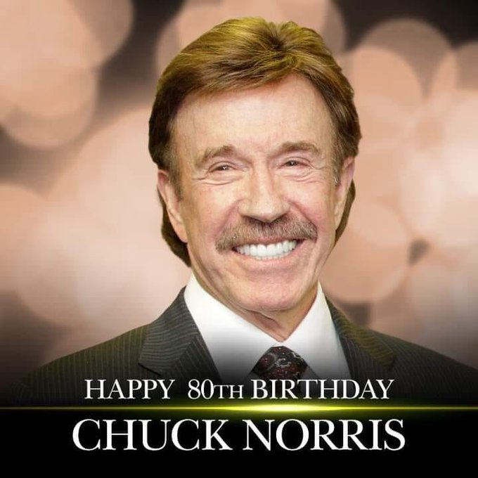 Want to keep breathing? Wish Chuck Norris a happy birthday!