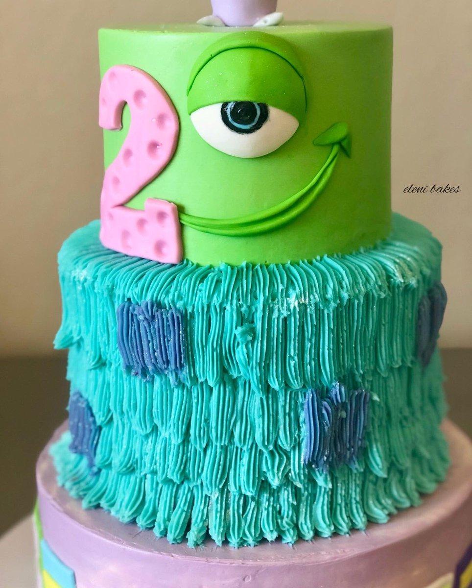 Astonishing Eleni Bakes On Twitter Monsters Inc Birthday Cake Elenibakes Funny Birthday Cards Online Hendilapandamsfinfo