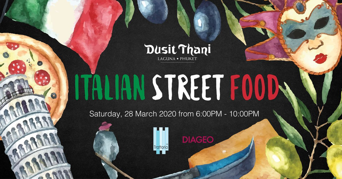 """Join us for a fun and vibrant evening at our """"Italian Street Food Market by the beach"""".  Have a taste of Italian street food and stroll around for games, music and a classic Italian movie!  > Saturday, 28 March 2020 > 6:00PM - 10:00PM  Visit 👉 https://t.co/h2wiM6jx9T https://t.co/EVNvRPWZvI"""