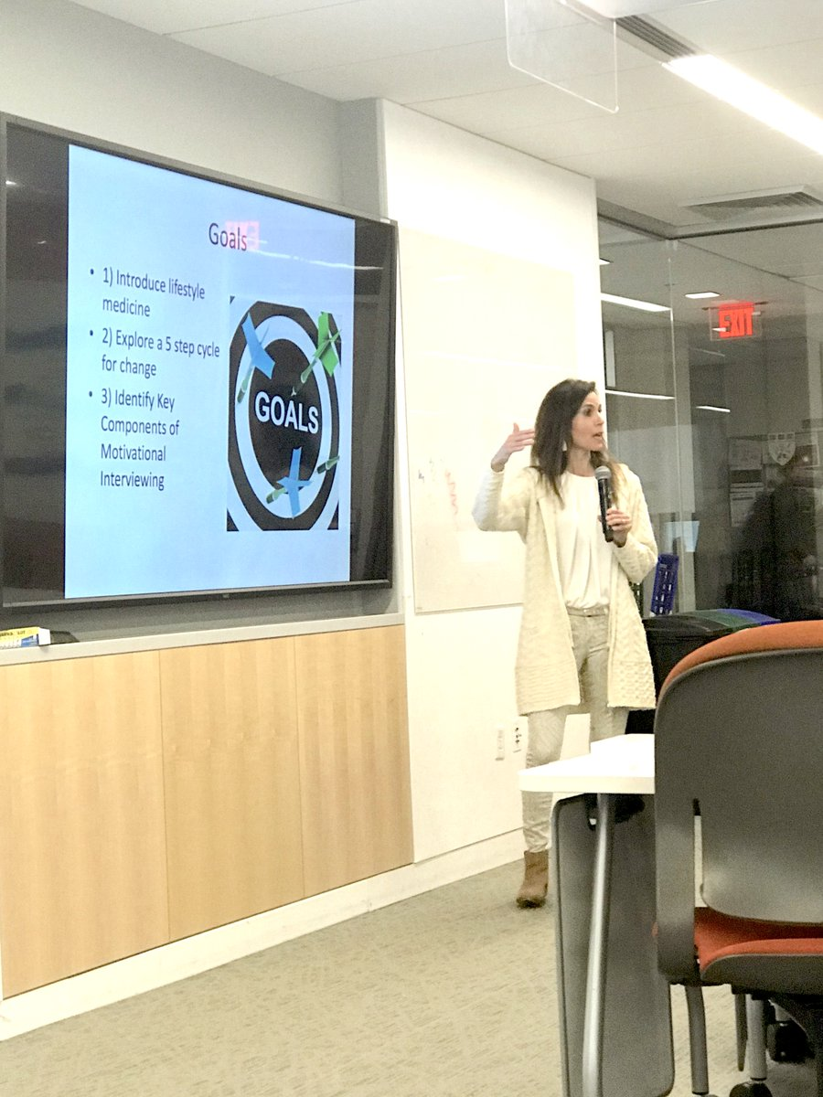 Lifestyle Medicine uses prescriptions for exercise, nutrition, sleep, stress resiliency+social connection for treatment, prevention+reversal of chronic conditions like diabetes, obesity,❤️diz+more. Delighted to teach Harvard Medical Students about motivational interviewing today.