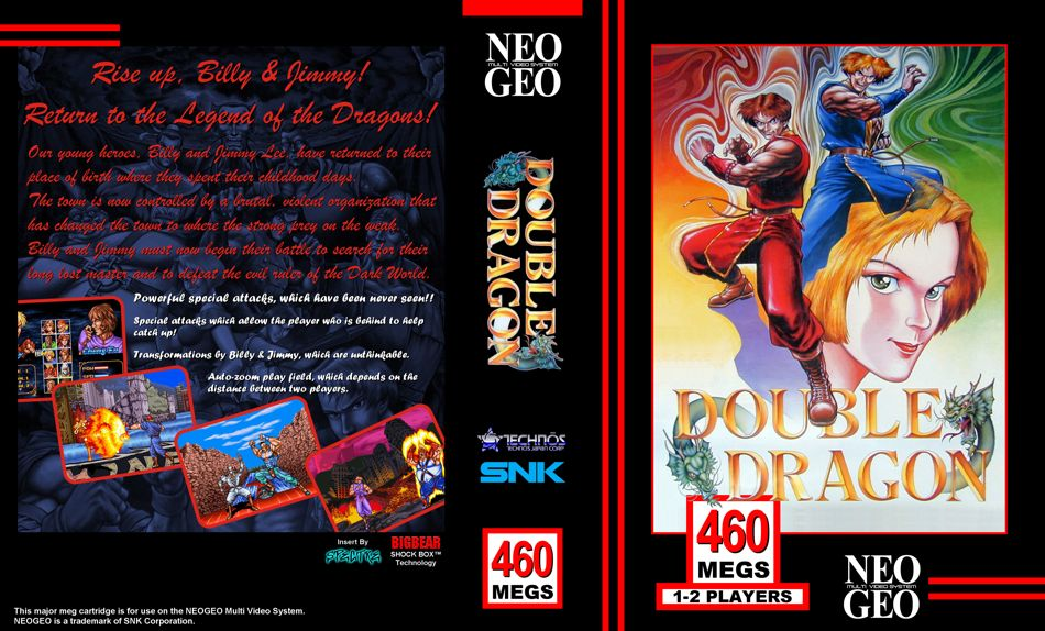 Nba Jam The Book On Twitter 1995 Box Art For Double Dragon On The Neo Geo