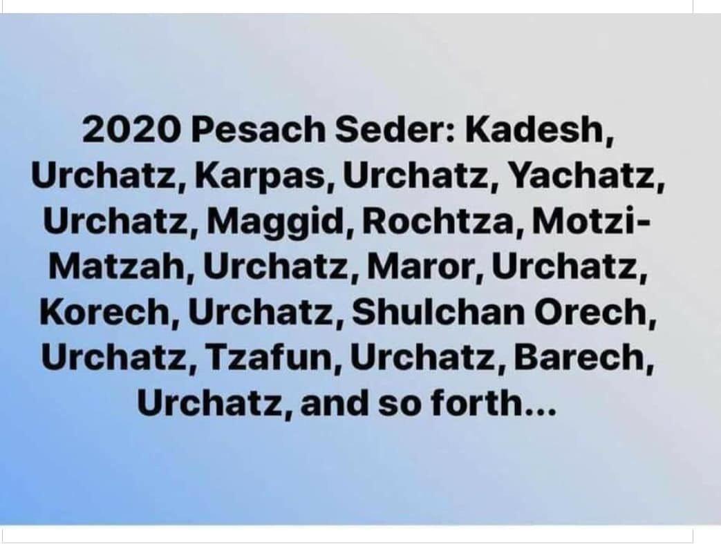 Image result for kadesh urchatz joke