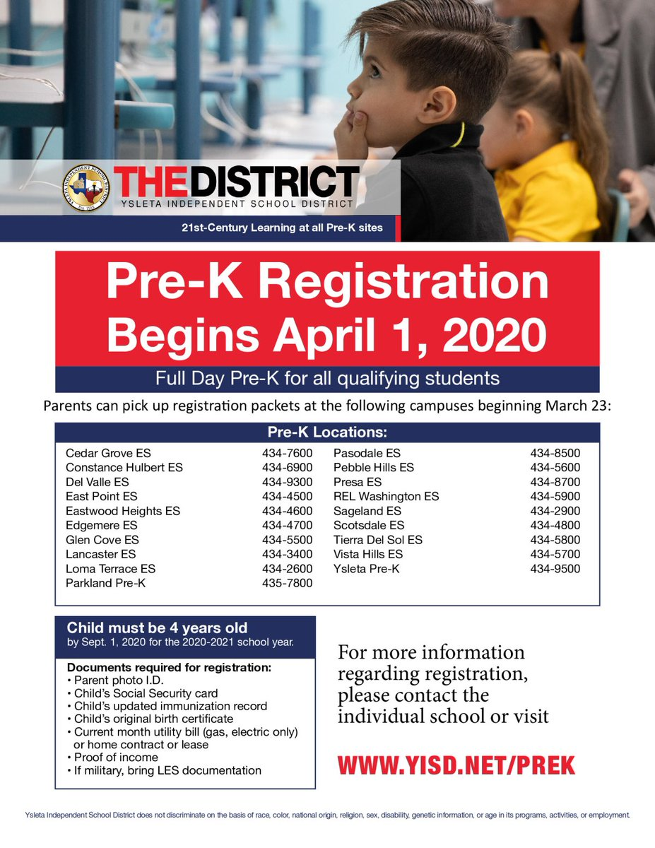 Prek Registration begins April 1,2020! #fullday #earlyeducation