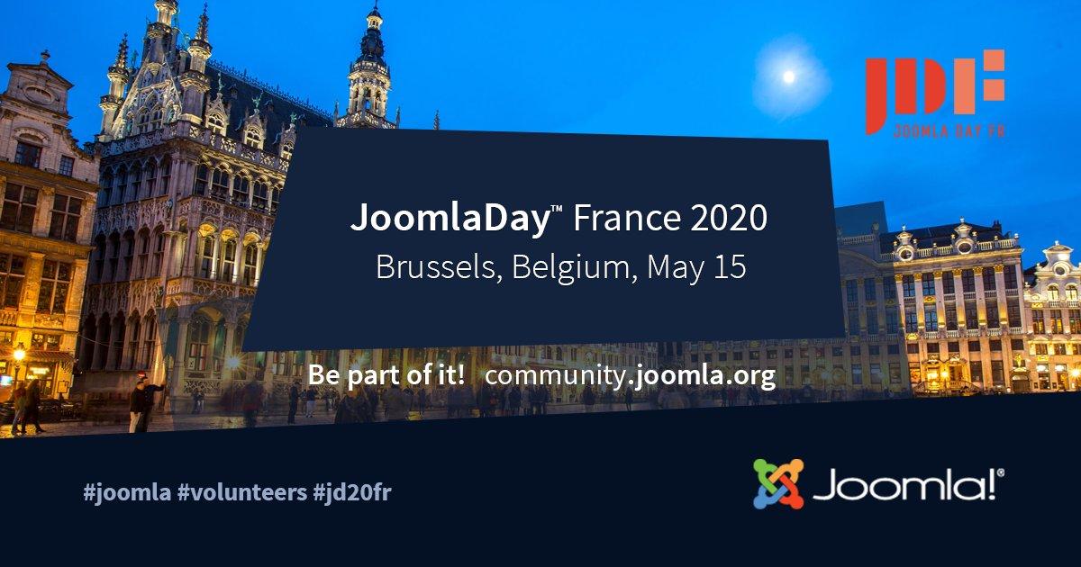 JoomlaDay FR 15 May 2020 Brussels, Belgium #Joomla #CMS #joomladay #jd20fr #volunteers #france  https:// community.joomla.org/events    <br>http://pic.twitter.com/RwMhV0muSc