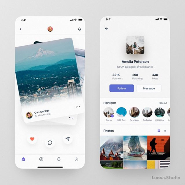 iOS Feed App! Project Enquires: hello@ofspace.co #iosapp #appdesign #music #radio #podcast #ofspace #ofspacedesign #ios #appui #uidesign #ux #ui #song #play #uiuxsupply #uibysherms #ui_gradient #uibucket #uidesignpatterns #ux_trends #ofspaceinsidepic.twitter.com/bHuRjjwm9z