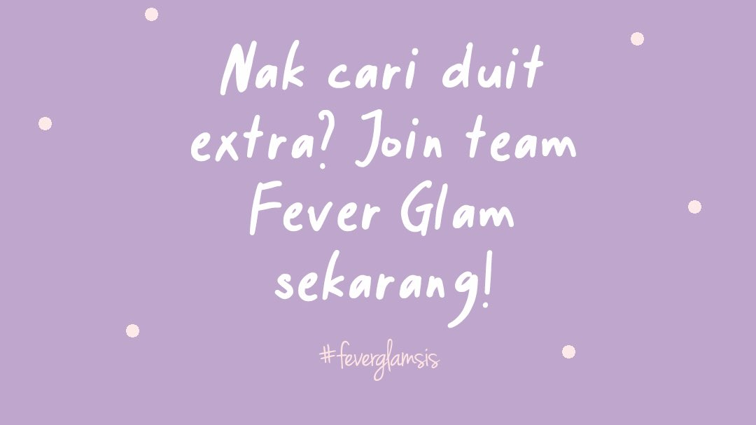 Nak cari duit extra? @FeverGlam_ FeverGlam_ open for new Dropship intake!  ✅ Free registration ✅ Margin tinggi ✅ Group support ✅ Marketing tools (ayat promote, gambar, testimoni, etc) ✅ Ilmu & tips bisnes  Agent & Stokis juga di buka, modal serendah 3pcs sahaja. DM sekarang! https://t.co/rsW19nO22Y