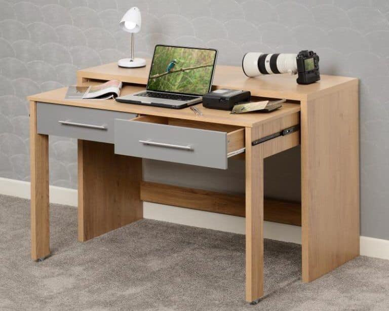 Seville Slider Set Desk only €123  Space saving desk that pulls out for extra work space and slides back when not in useAvailable in White or Grey Matching range of bedroom Furniturepic.twitter.com/RFOkgtVljH