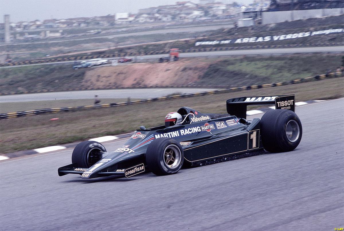 Mario Andretti, Lotus 79 – Ford-Cosworth DFV 3.0 V8. GP Interlagos 1979.  #F1 https://t.co/wkTtMz2Ma7