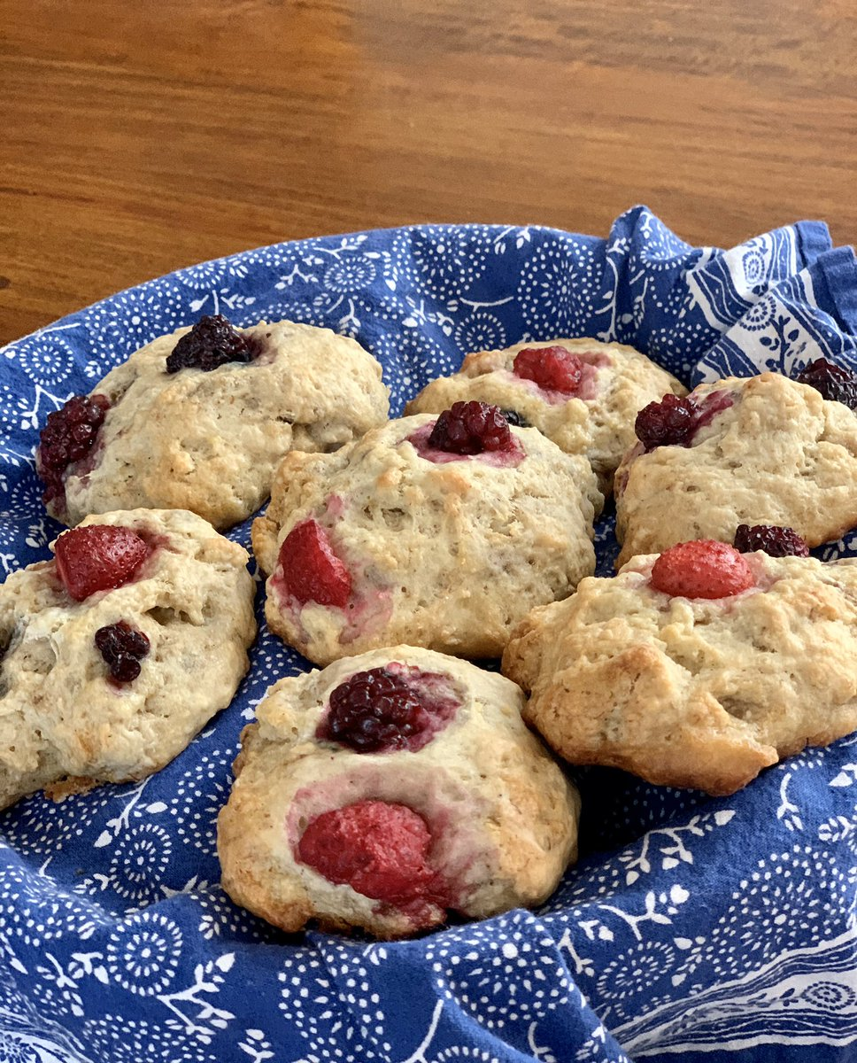 #plantbased treat for today: vegan berry scones. They didn't last long... #QuarantineLife
