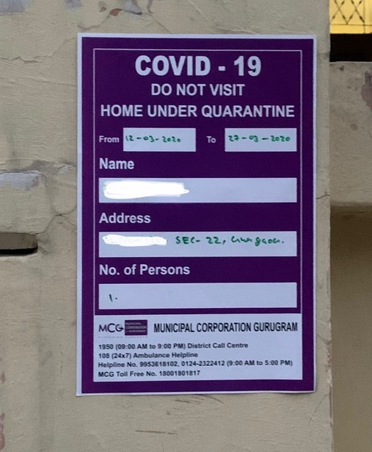 Mcg On Twitter Distt Administration Has Put Notices At Residences Of Few People Who Have Been Advised Precautionary Home Quarantine Based On Recent International Travel History Contact Tracing Etc We Clarify That