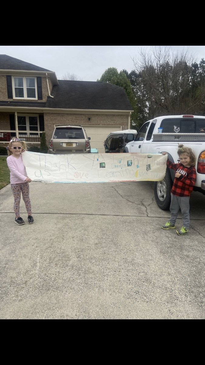 Loved seeing some of my kiddos in our parade yesterday! Here are some of their signs🤗 #spsk12proud