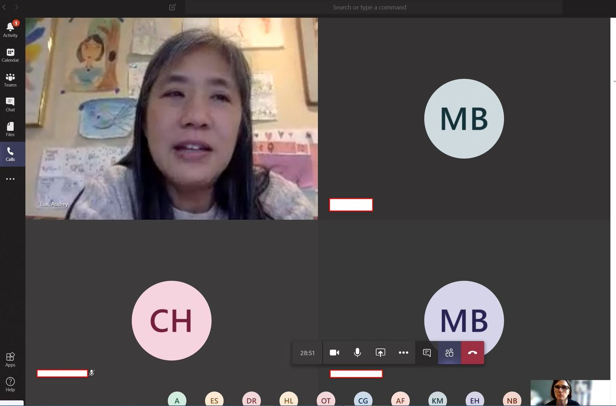 Ms. Tsai and I held our first virtual TAB meeting this afternoon. I miss seeing all of these kids every day! ☹️☹️☹️ They miss school and had so many questions for us. I'm so honored to be part of their lives. <a target='_blank' href='http://search.twitter.com/search?q=DHMSreads'><a target='_blank' href='https://twitter.com/hashtag/DHMSreads?src=hash'>#DHMSreads</a></a> <a target='_blank' href='http://twitter.com/APSLibrarians'>@APSLibrarians</a> <a target='_blank' href='http://twitter.com/EllenSmithAPS'>@EllenSmithAPS</a> <a target='_blank' href='http://twitter.com/DHMiddleAPS'>@DHMiddleAPS</a> <a target='_blank' href='http://twitter.com/dhms_ptsa'>@dhms_ptsa</a> <a target='_blank' href='https://t.co/ukuwrbDoUk'>https://t.co/ukuwrbDoUk</a>