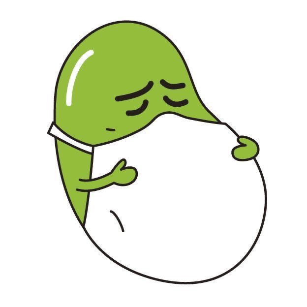 Mamezou and Azuki are Japan's influenza prevention bean characters.